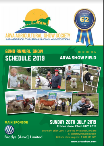 Schedule 2019 – Arva Agricultural Show Society